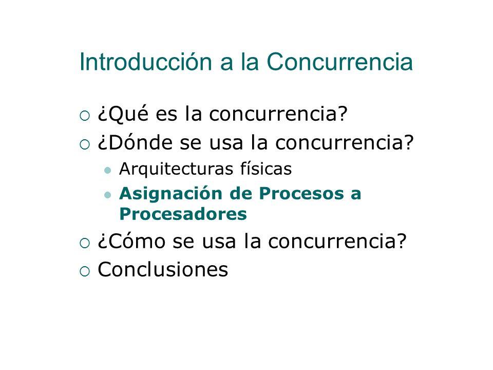 Arquitecturas Físicas Vamos a centrarnos en el modelo de concurrencia de memoria compartida El modelo de concurrencia de paso de mensajes se estudia e