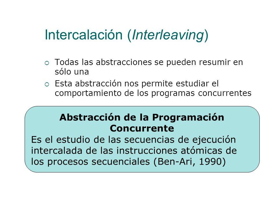 Intercalación (Interleaving) Multiprogramación Realmente las instrucciones se ejecutan de forma intercalada Multiproceso Si dos instrucciones compiten