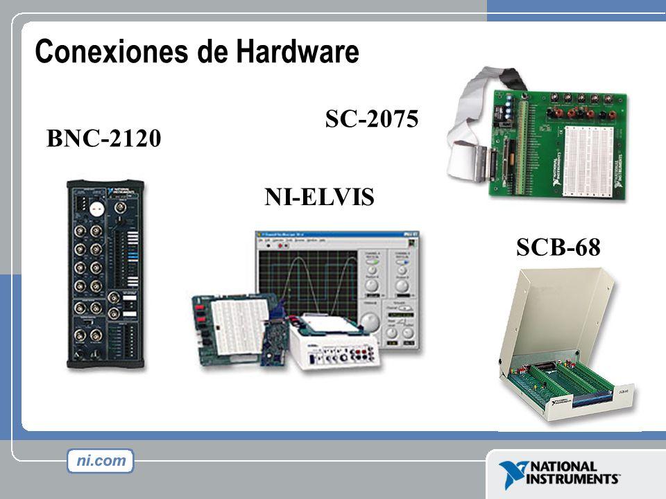 Conexiones de Hardware BNC-2120 SCB-68 NI-ELVIS SC-2075