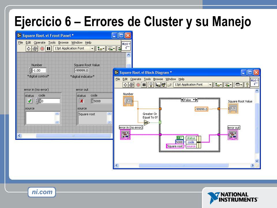 Ejercicio 6 – Errores de Cluster y su Manejo