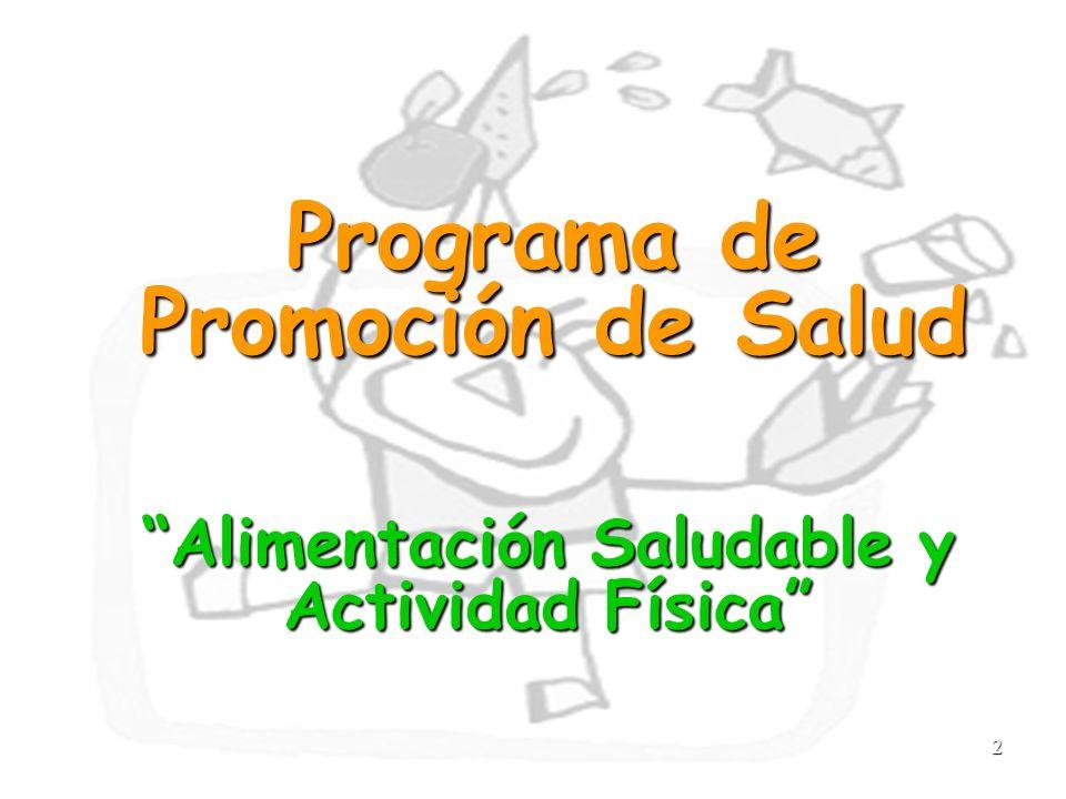 2 Programa de Promoción de Salud Alimentación Saludable y Actividad Física
