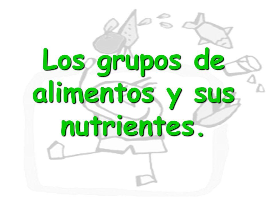 21 Los grupos de alimentos y sus nutrientes.