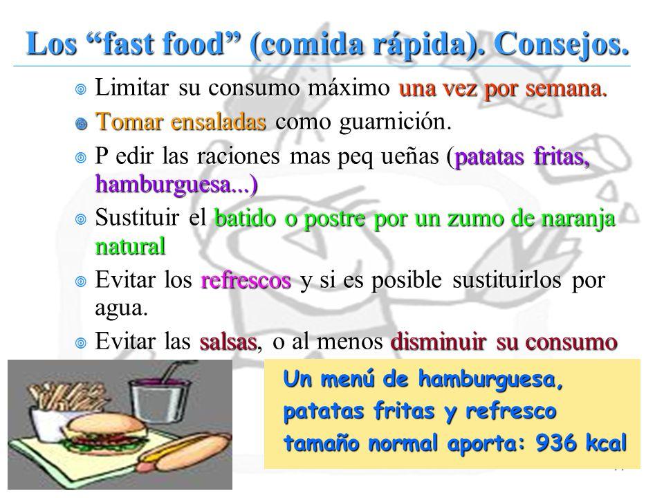 44 Limitar su consumo máximo una vez por semana. Limitar su consumo máximo una vez por semana. Tomar ensaladas como guarnición. Tomar ensaladas como g