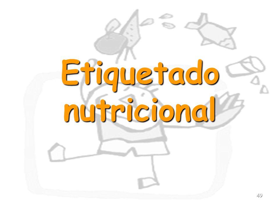 49 Etiquetado nutricional