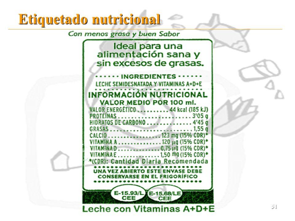 51 Etiquetado nutricional