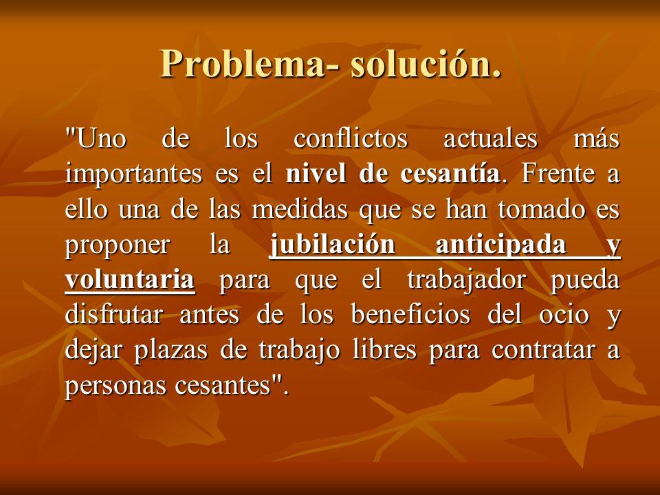 Problema- solución.