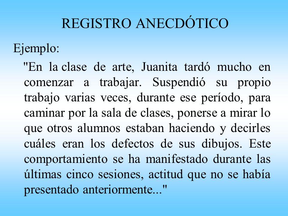 Registro Anecdótico Colegio Salvador Av.