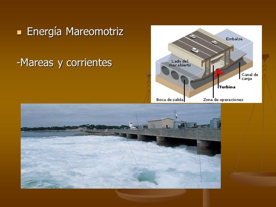 Energía Mareomotriz Energía Mareomotriz -Mareas y corrientes