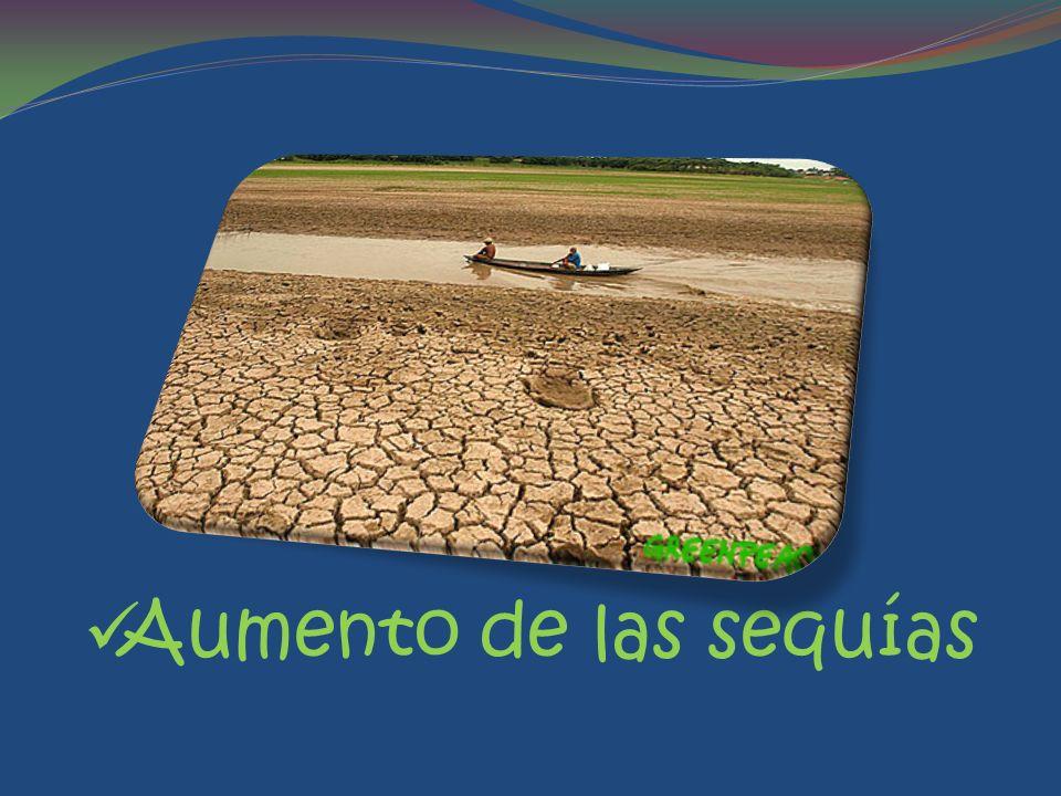 Aumento de las sequías