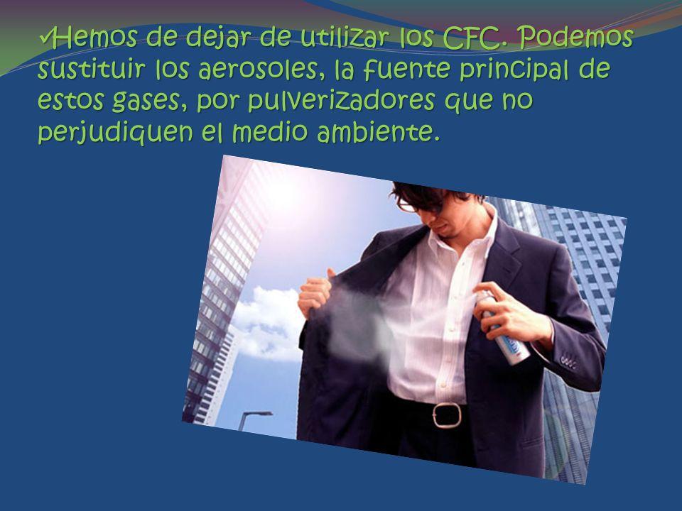 Hemos de dejar de utilizar los CFC.