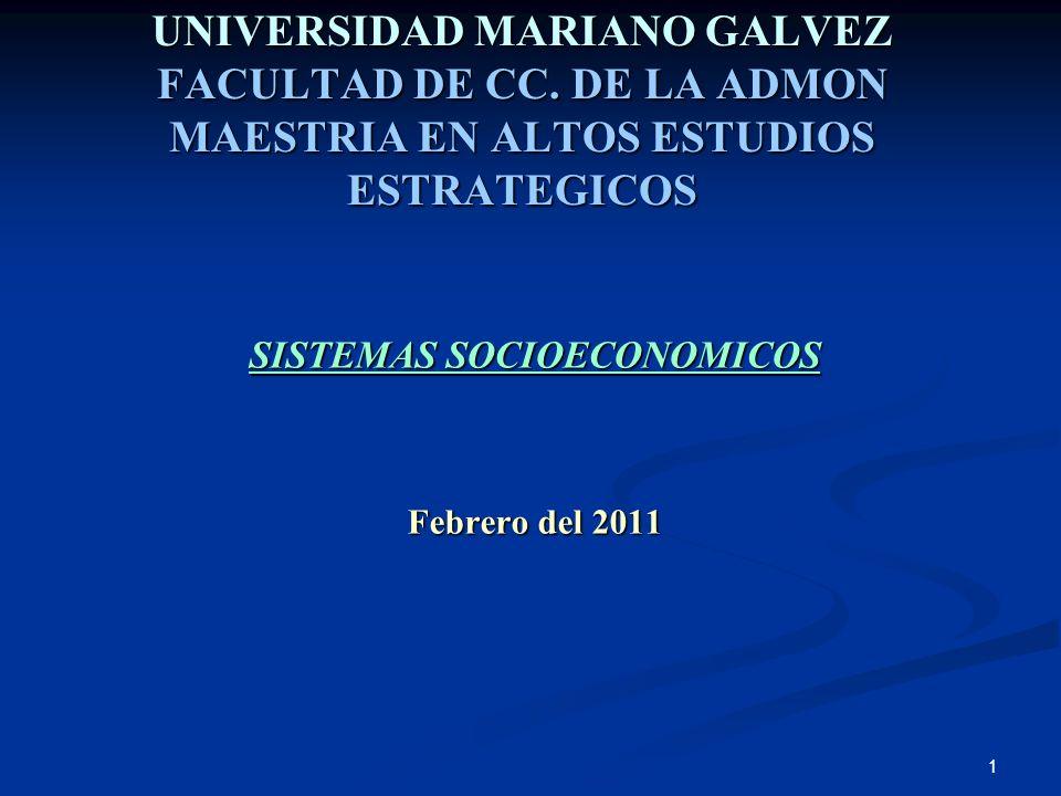 1 UNIVERSIDAD MARIANO GALVEZ FACULTAD DE CC.