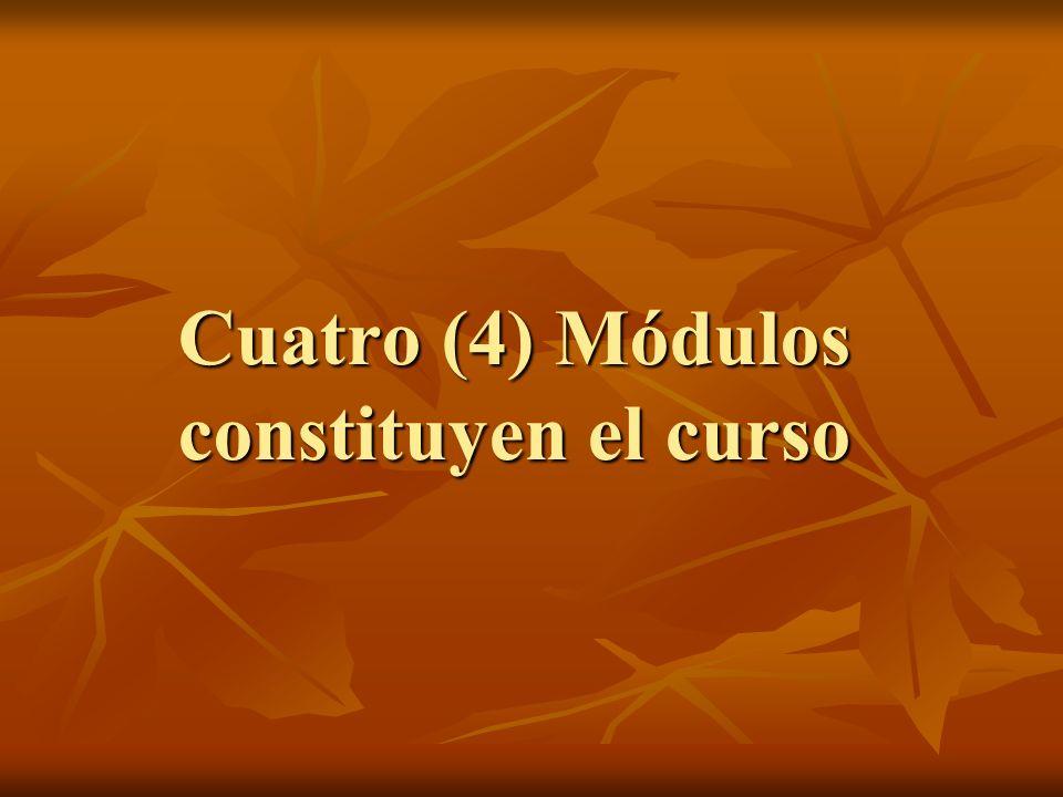 Cuatro (4) Módulos constituyen el curso