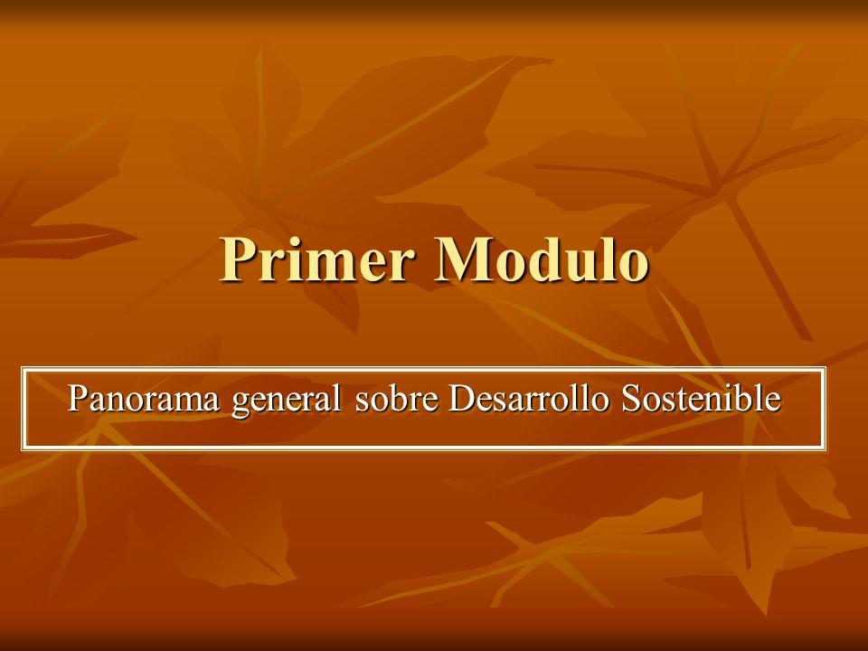 Segundo Módulo Evaluación de la sostenibilidad e indicadores del Desarrollo Sostenible.