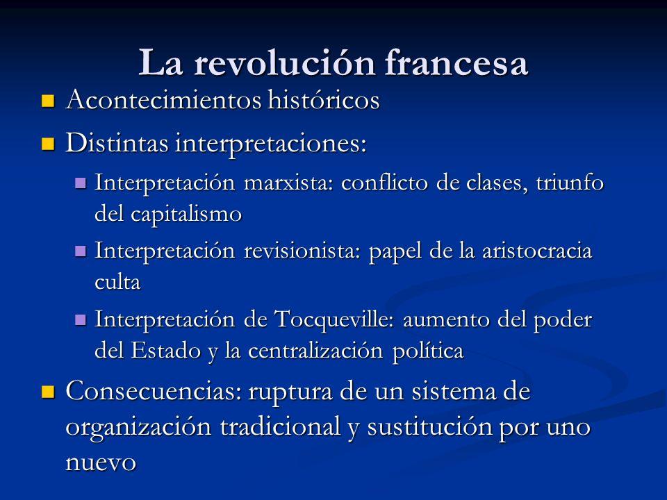 La revolución francesa Acontecimientos históricos Acontecimientos históricos Distintas interpretaciones: Distintas interpretaciones: Interpretación ma