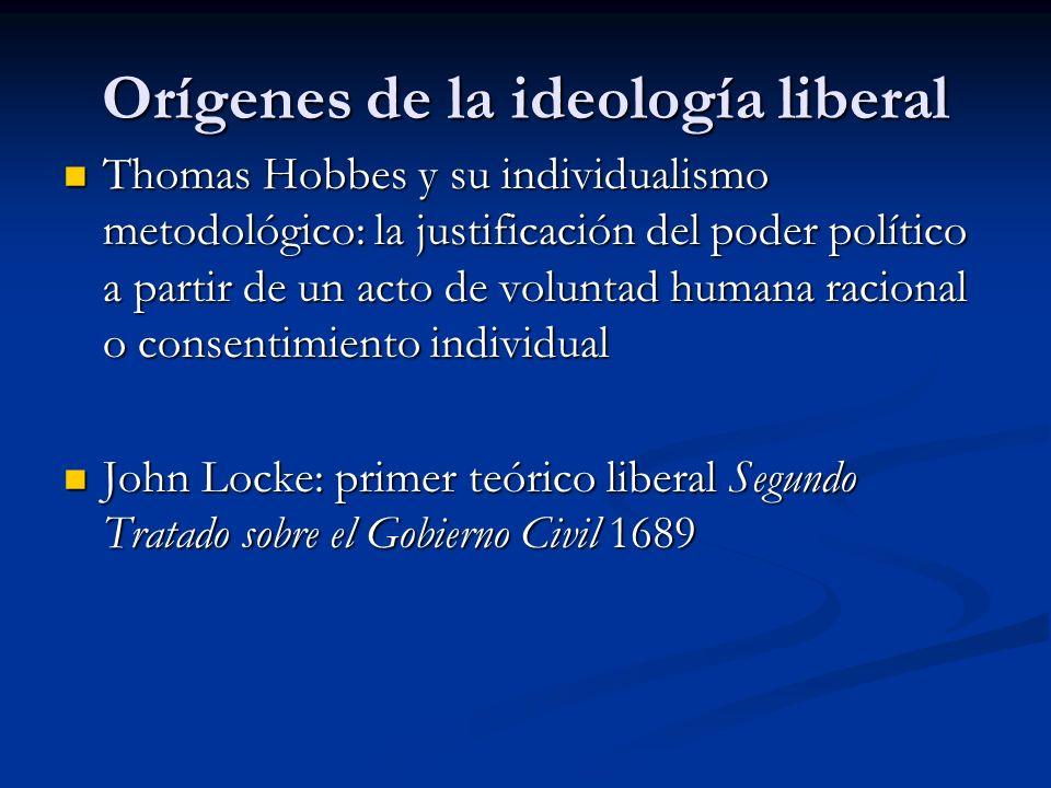Orígenes de la ideología liberal Thomas Hobbes y su individualismo metodológico: la justificación del poder político a partir de un acto de voluntad h