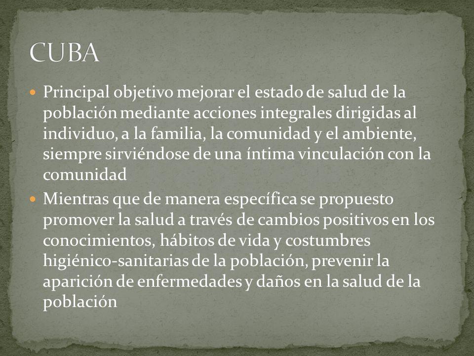 Se perfeccionó la formación de recursos humanos con el incremento de las Facultades de Ciencias Médicas del país, el diseño y la ejecución de un nuevo plan de estudios de pregrado para Medicina, con un perfil de salida orientado a la APS La historia de la salud pública cubana ha sido, sobre todo, la historia del desarrollo de la estrategia de la APS.