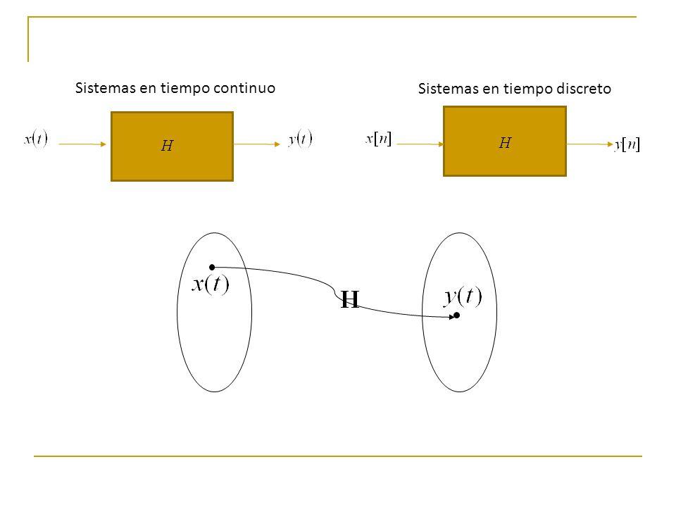 Clasificación de los sistemas en tiempo continuo Sistemas lineales y no lineales: Un sistema lineal es aquel que cumple la propiedad de superposición.