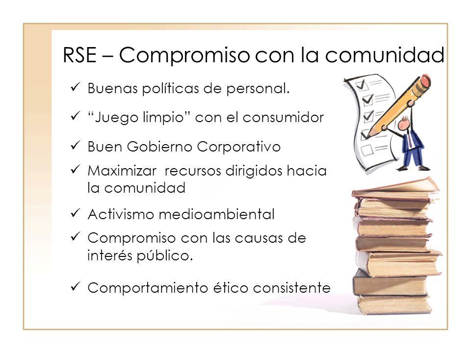 RSE – Compromiso con la comunidad Buenas políticas de personal.