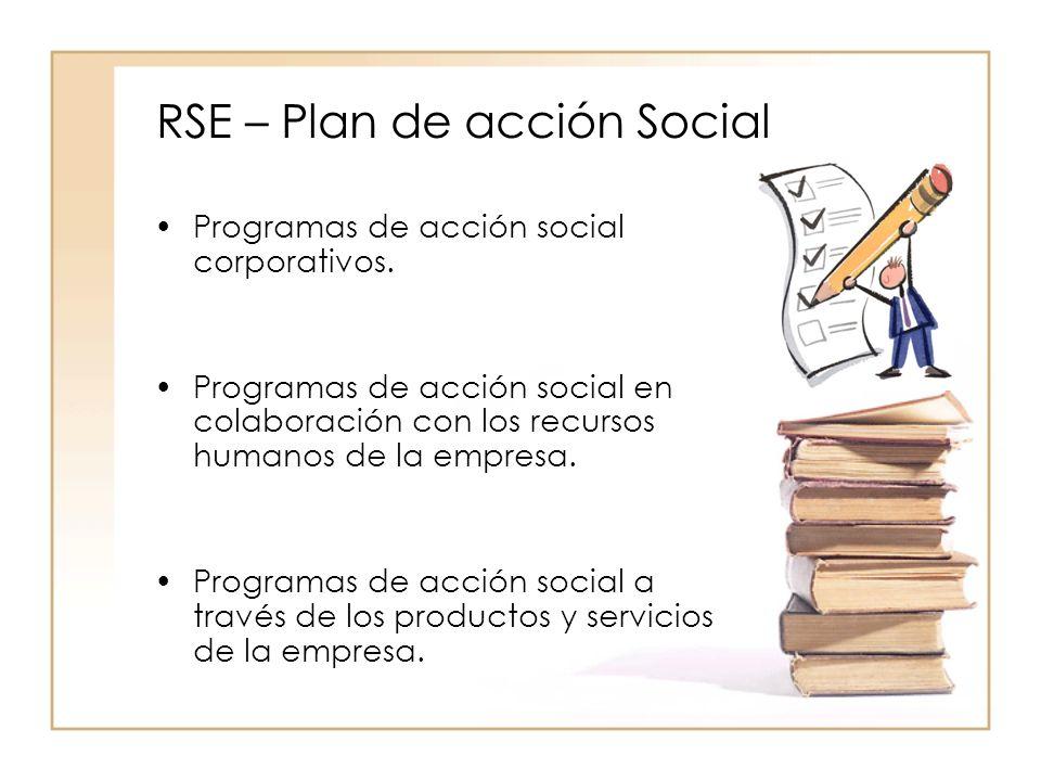 RSE – Plan de acción Social Programas de acción social corporativos.