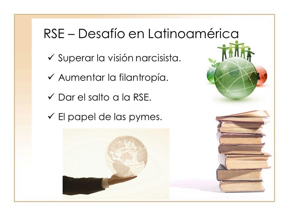 RSE – Desafío en Latinoamérica Superar la visión narcisista.