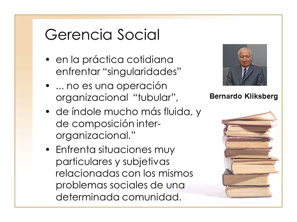 Gerencia Social en la práctica cotidiana enfrentar singularidades...