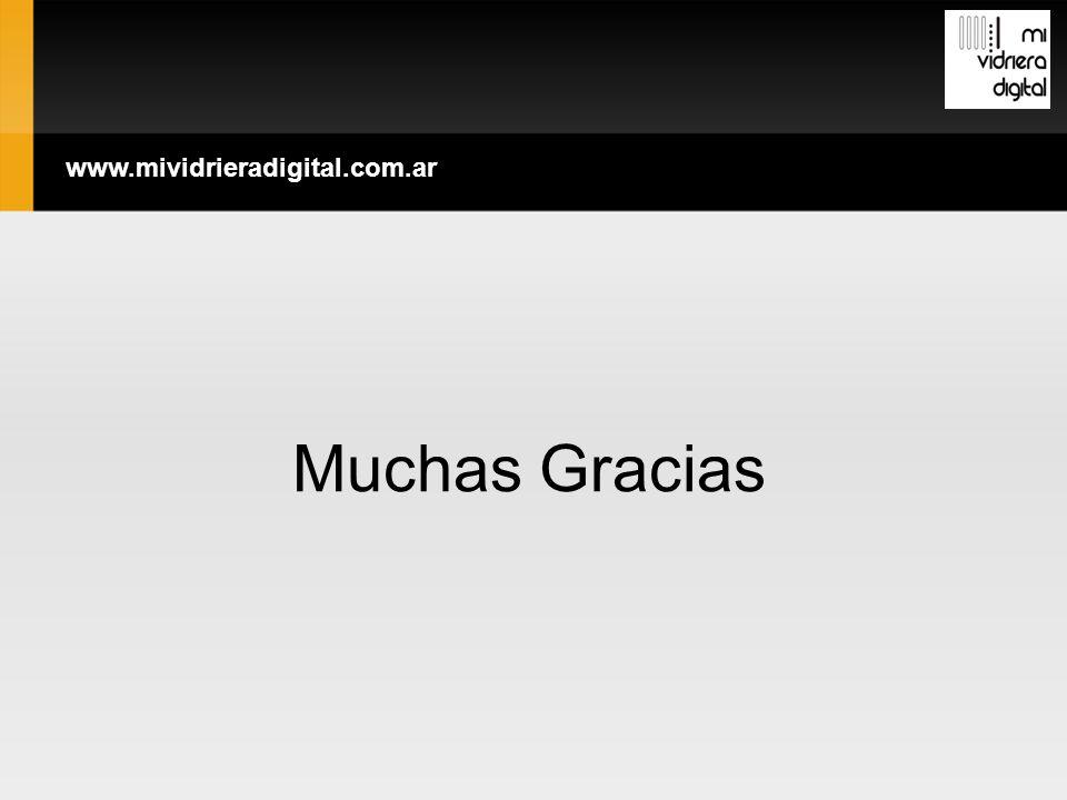 Muchas Gracias www.mividrieradigital.com.ar