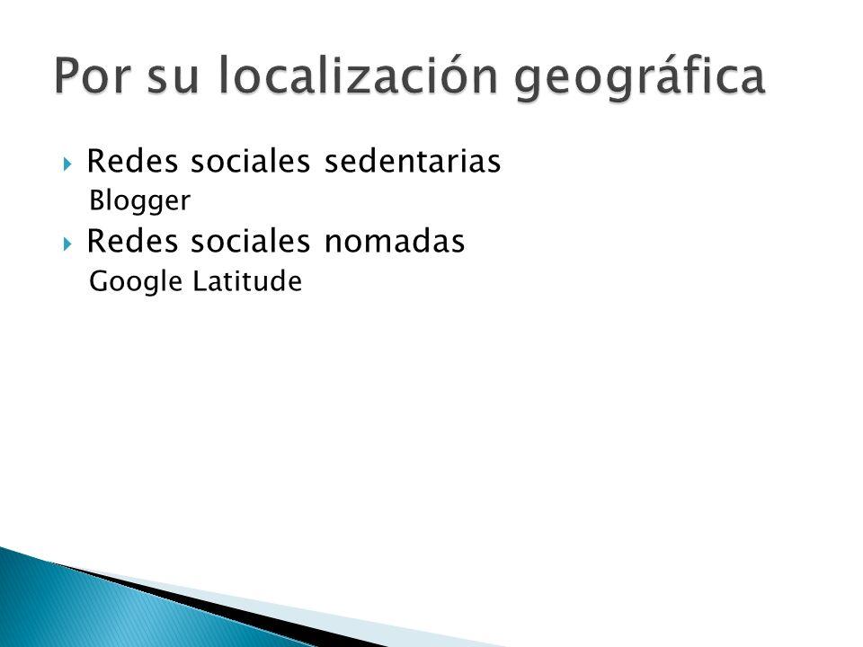 Redes sociales sedentarias Blogger Redes sociales nomadas Google Latitude