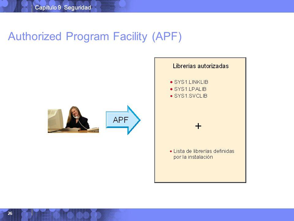 Capítulo 9 Seguridad 26 Authorized Program Facility (APF)