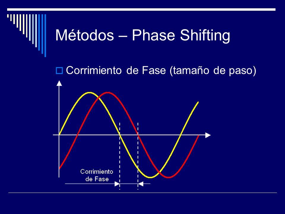 Métodos – Phase Shifting Corrimiento de Fase (tamaño de paso)