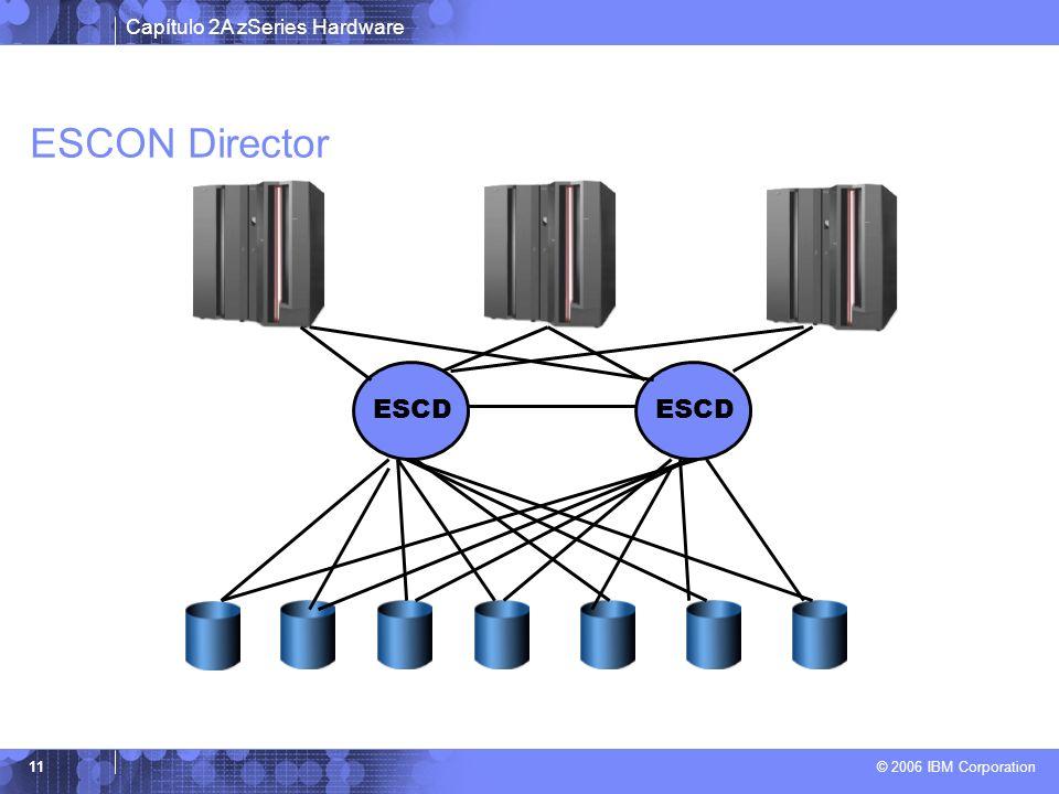 Capítulo 2A zSeries Hardware © 2006 IBM Corporation 11 ESCON Director ESCD