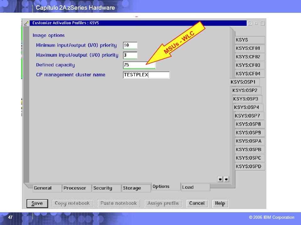 Capítulo 2A zSeries Hardware © 2006 IBM Corporation 47