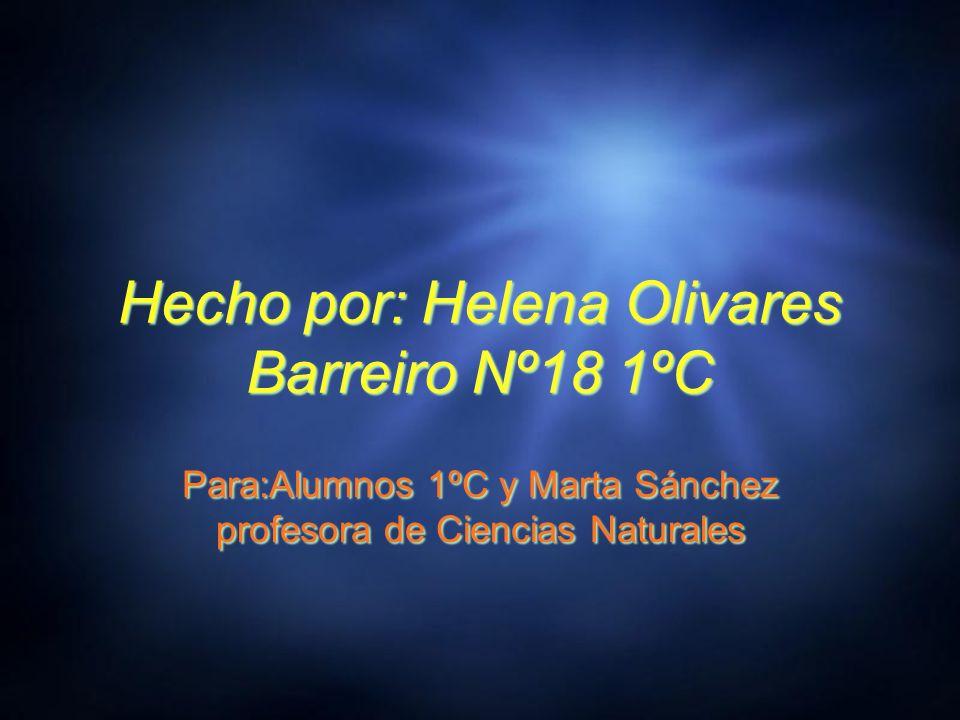 Hecho por: Helena Olivares Barreiro Nº18 1ºC Para:Alumnos 1ºC y Marta Sánchez profesora de Ciencias Naturales