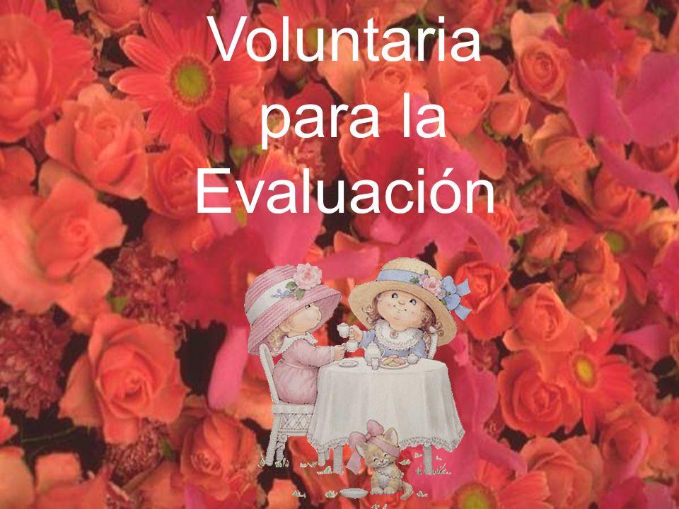 Voluntaria para la Evaluación