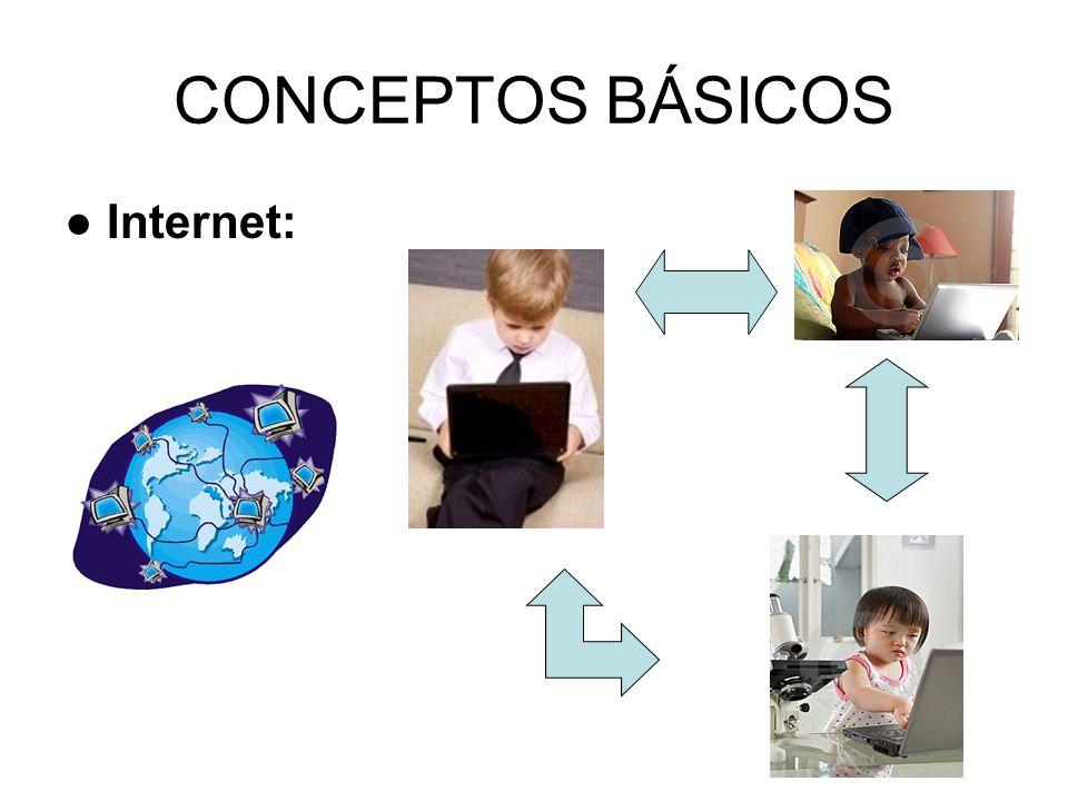 CONCEPTOS BÁSICOS Internet: