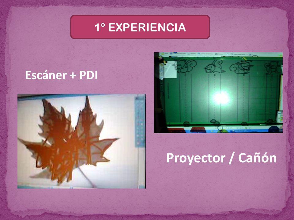 1º EXPERIENCIA Escáner + PDI Proyector / Cañón