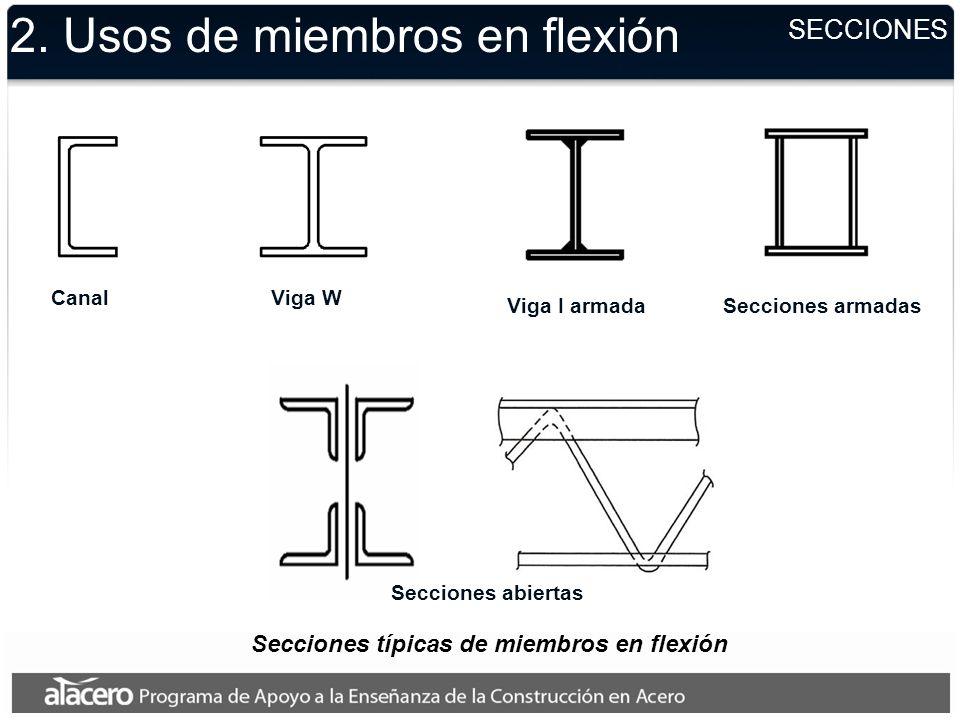 2. Usos de miembros en flexión Vigas sólidas PUENTES