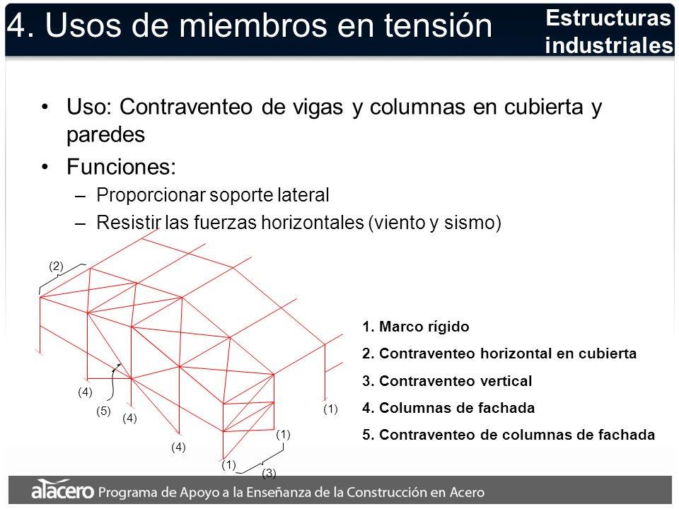 Ejemplos de contraventeos verticales en edificios de varios pisos Sistemas de contraventeo 4.