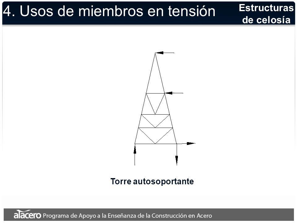 Naves industriales Estructura típica a base de armadura a dos aguas con tirante como elemento en tensión 4.
