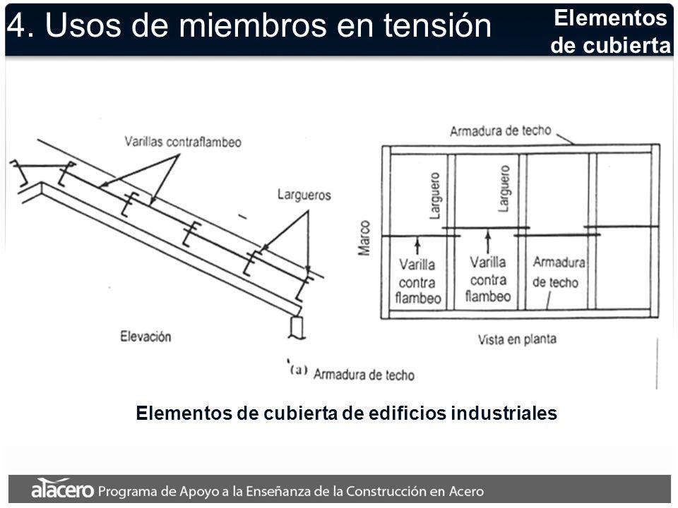 Cubiertas y tirantes Elementos de cubierta de edificios industriales y tirantes para el soporte de pisos 4.