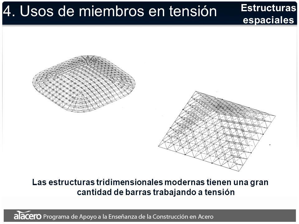 Ejemplo T 1, T 2 son las fuerzas de tensión axial en las barras verticales de la estructura.