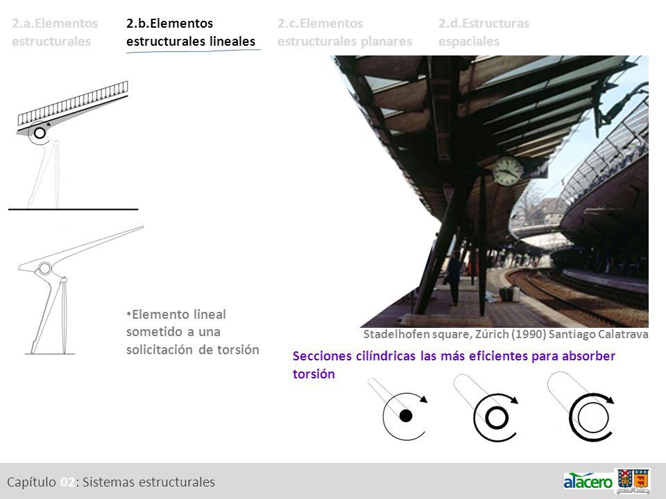Capítulo 02: Sistemas estructurales 2.d.Estructuras espaciales 2.c.Elementos estructurales planares 2.a.Elementos estructurales 2.b.Elementos estructu