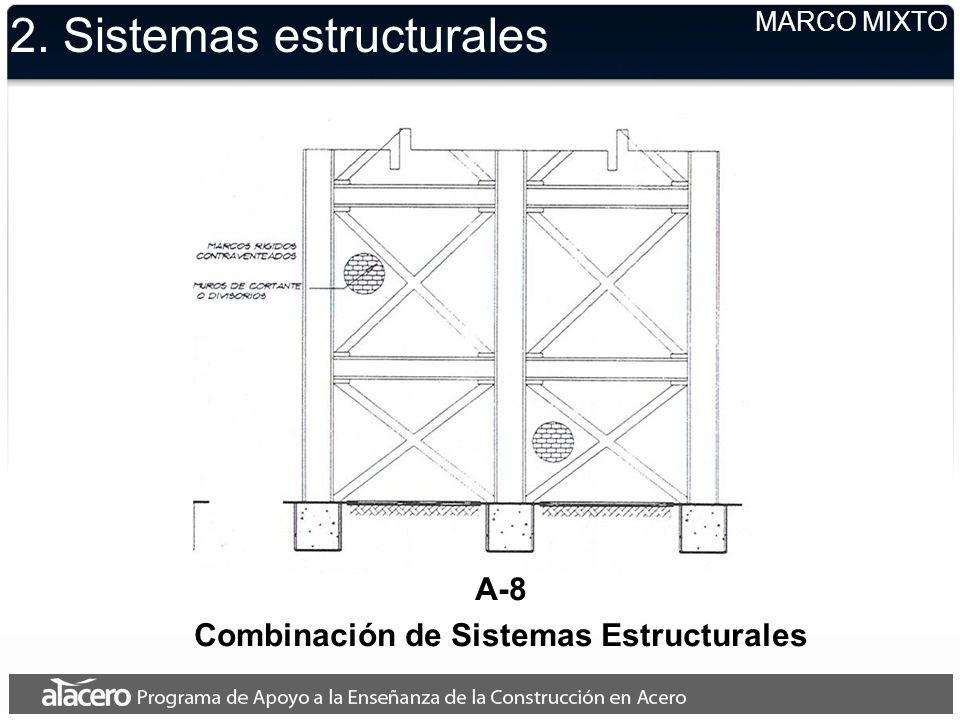 2. Sistemas estructurales MARCO MIXTO A-8 Combinación de Sistemas Estructurales
