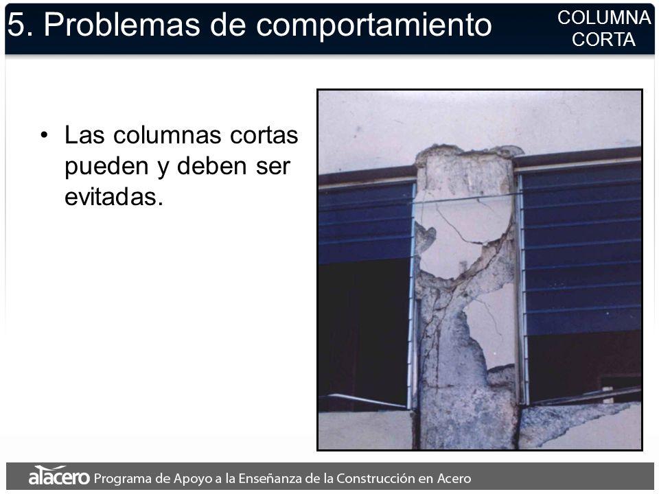 5. Problemas de comportamiento Las columnas cortas pueden y deben ser evitadas. COLUMNA CORTA