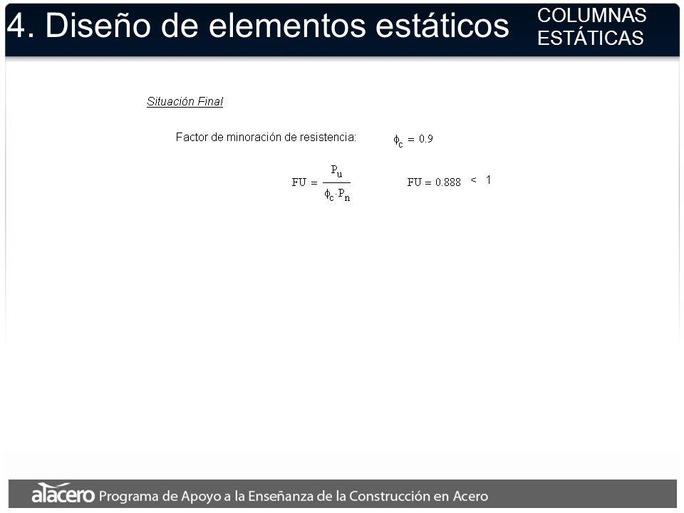 4. Diseño de elementos estáticos COLUMNAS ESTÁTICAS