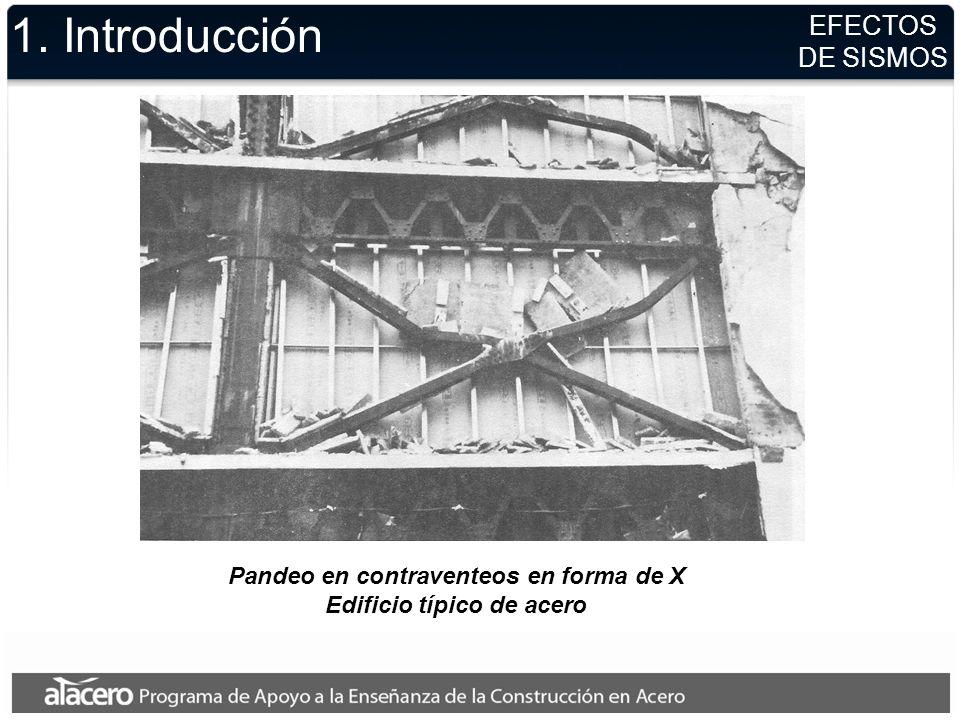Pandeo en contraventeos en forma de X Edificio típico de acero EFECTOS DE SISMOS 1. Introducción