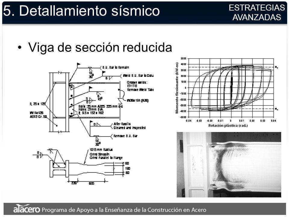 5. Detallamiento sísmico Viga de sección reducida ESTRATEGIAS AVANZADAS