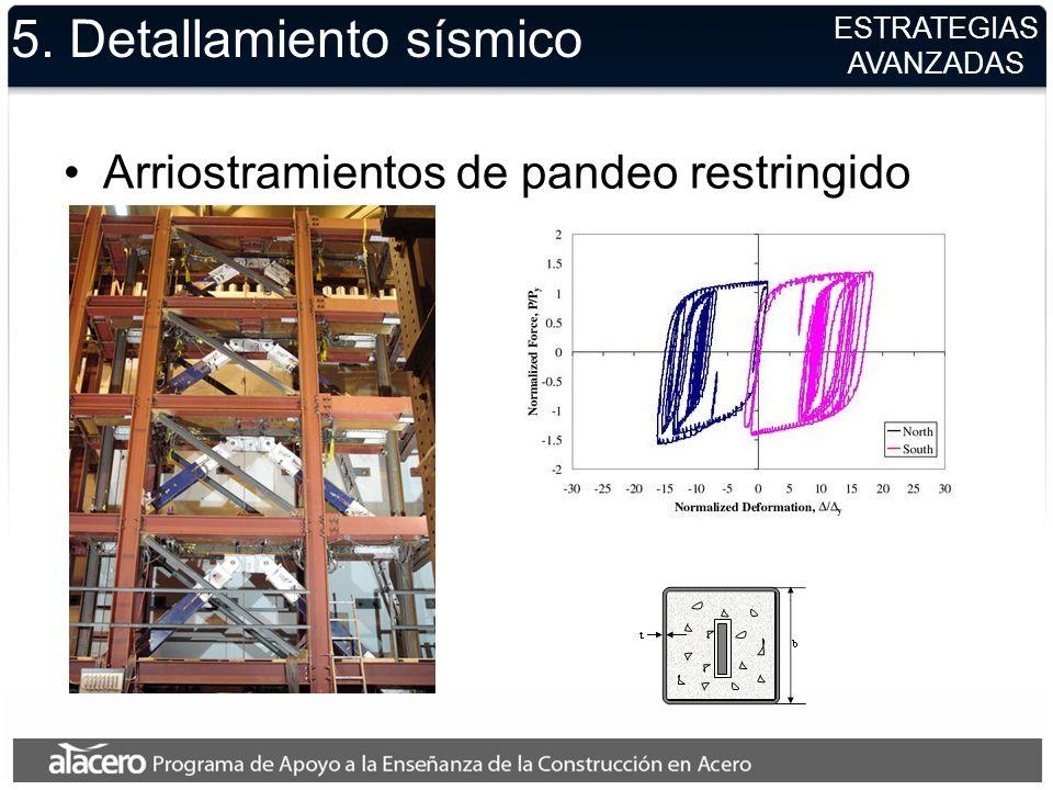 5. Detallamiento sísmico Arriostramientos de pandeo restringido ESTRATEGIAS AVANZADAS