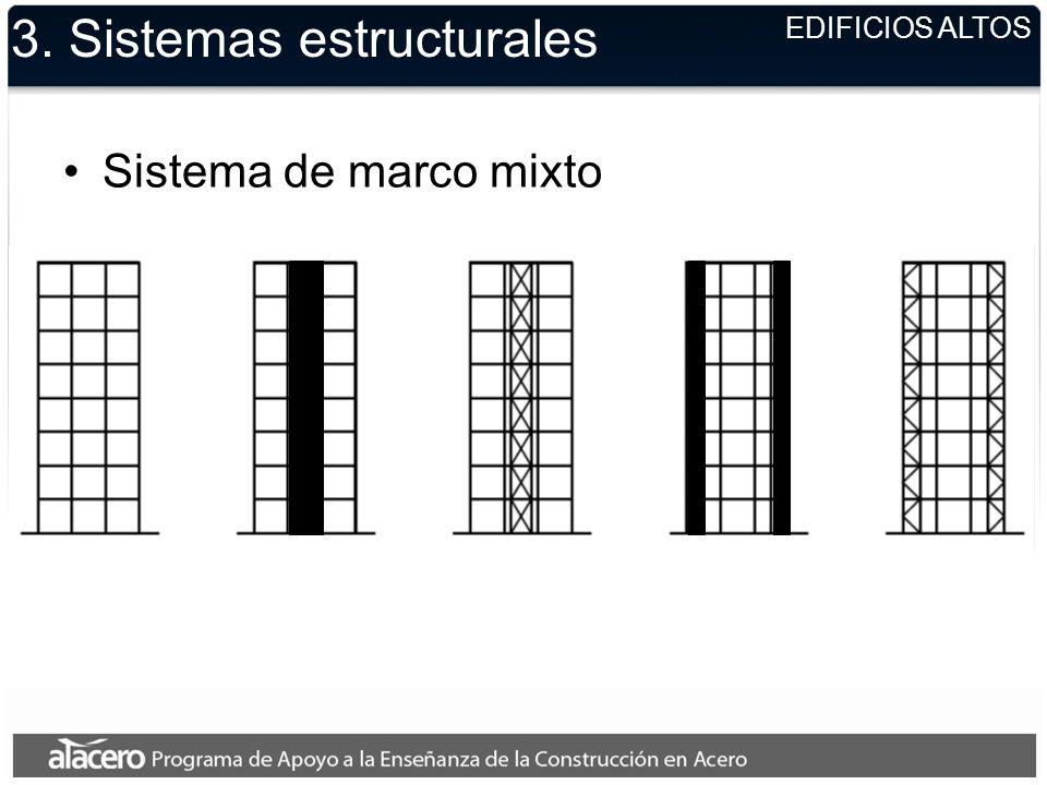 EDIFICIOS ALTOS 3. Sistemas estructurales Sistema de marco mixto