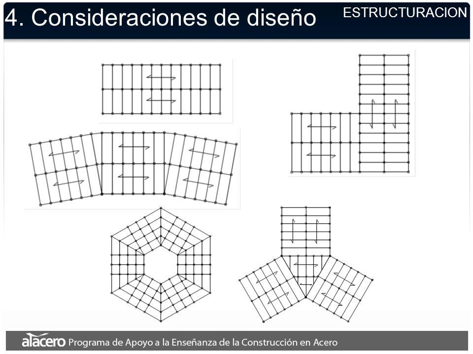 4. Consideraciones de diseño ESTRUCTURACION