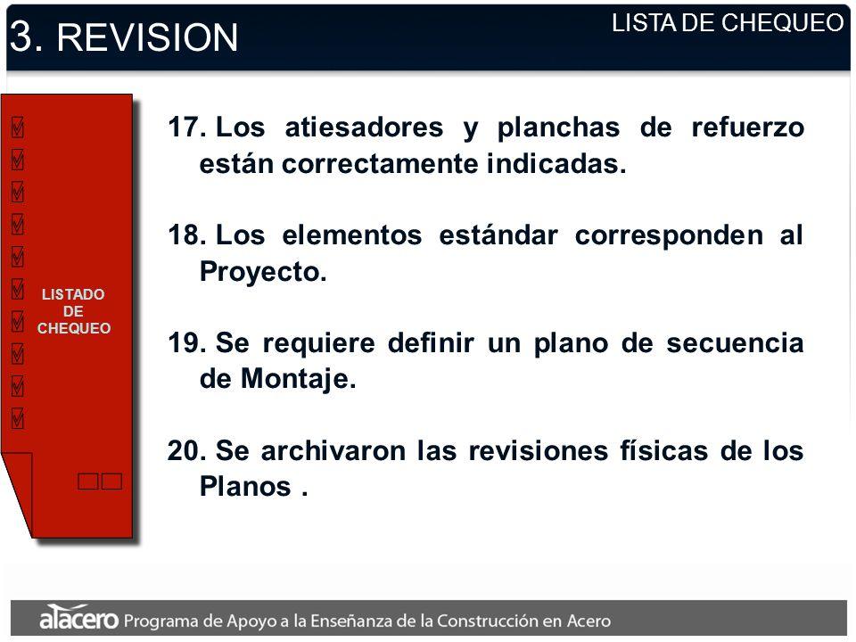 3.REVISION LISTADO DE CHEQUEO 17.